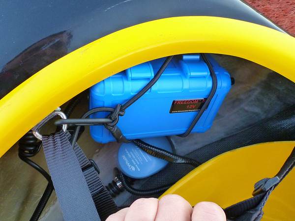 Alex wetmore is always busy with something blog archive a i was going to put together my own electric bilge pump setup but blue water kayaks sells a kit that does the job nicely there is a battery pack and pump freerunsca Choice Image