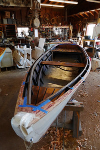 Row boat in the workshop