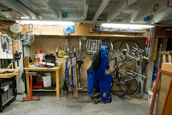 Bike Storage Is Similar To The Old Basement, 6 Bike Hooks Set At 14u2033  Intervals Alternating Up/down. It Looks A Little Messy In This Photo  Because My Trailer ...