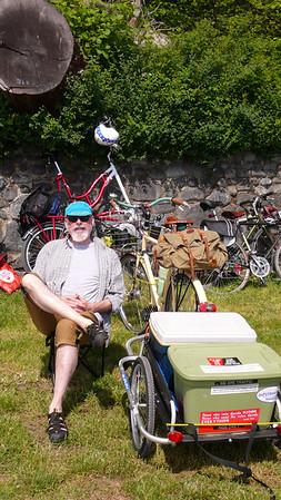 Ro's porteur rack plus basket plus trailer Kogswell P/R