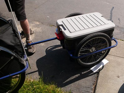 Lightfoot Trailer, attached to a Lightfoot Trike