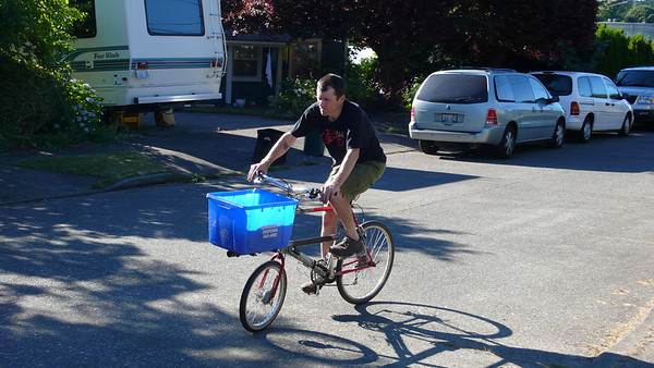 Alistair gives it a spin around the block