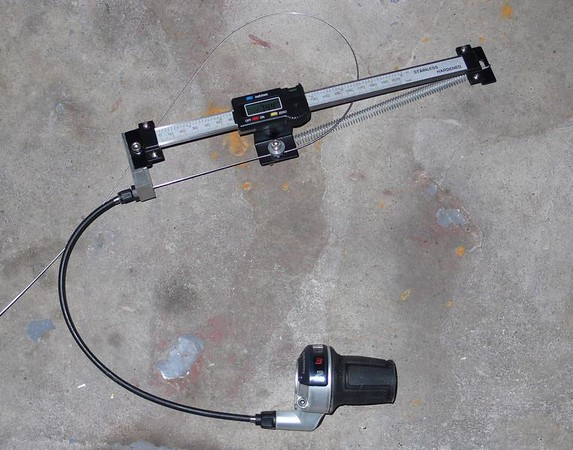 Cable pull measuring device