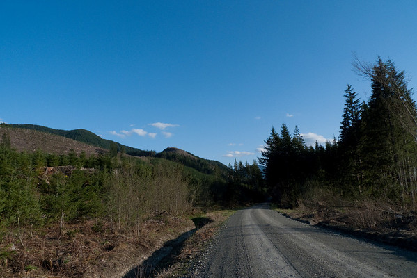Blue skies and clear roads on Friday evening