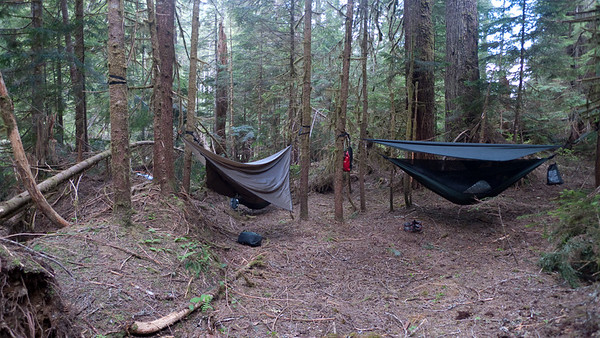 Hammock village.  Hammocks are great for this sort of open but not very flat forest.