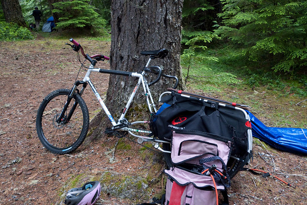 Offroad XtraCycle carried Monica and a lot of gear.